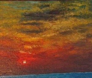 黃如逢《夕陽》